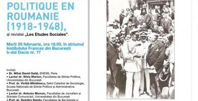 Débat sur l'Ecole Sociologique de Bucarest (26 février 2013 à l'Institut Français de Bucarest)