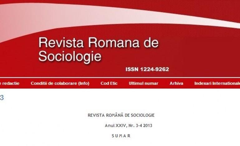 REVISTA ROMANA DE SOCIOLOGIE: numar special dedicat Stefaniei Cristescu-Golopentia