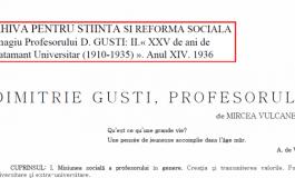 Dimitrie Gusti - profesorul (1936); Teoria abisala a dlui Lucian Blaga (1938)