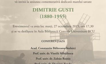 Sesiune comemorativă Dimitrie Gusti (1880-1955)