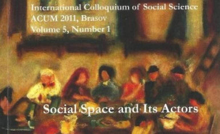 ACUM 2011, vol. 5, nr. 1: Social space and its actors/ Studies on Gusti's School